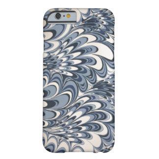 Caja azul retra del iPhone 6 de las olas oceánicas Funda Para iPhone 6 Barely There