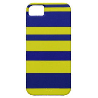 Caja azul y amarilla del iPhone 5 de las rayas iPhone 5 Case-Mate Cobertura