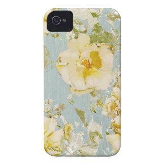 Caja azul y amarilla del rosa del vintage para el Case-Mate iPhone 4 protectores