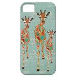 Caja azul y ambarina del iPhone de las jirafas iPhone 5 Protector