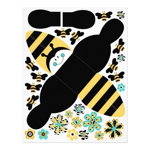 Caja B del favor de la abeja del cumpleaños Tarjetones