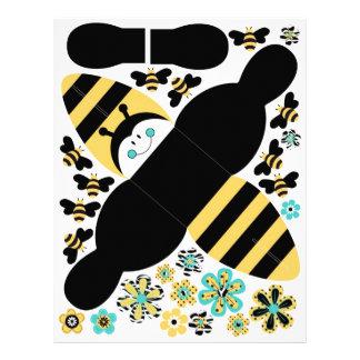 Caja B del favor de la abeja del cumpleaños Folleto 21,6 X 28 Cm