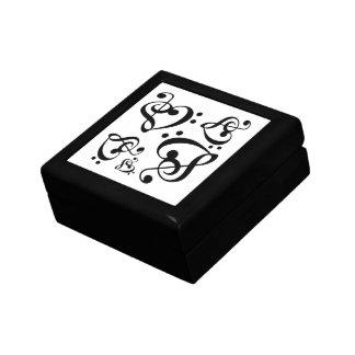 Caja baja de la teja del modelo de la música del joyero