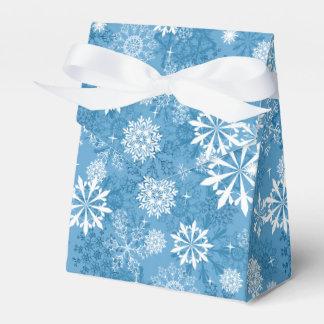 Caja blanca azul del favor del modelo del copo de