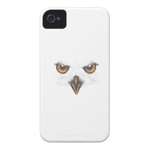 Caja blanca del iPhone del búho - blanco Case-Mate iPhone 4 Cárcasas