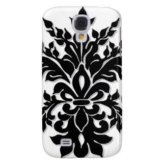 Caja blanca negra de Iphone 3 de la flor de lis de