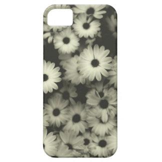 Caja blanco y negro de las flores funda para iPhone SE/5/5s