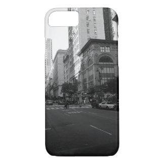 Caja blanco y negro de Nueva York Funda iPhone 7