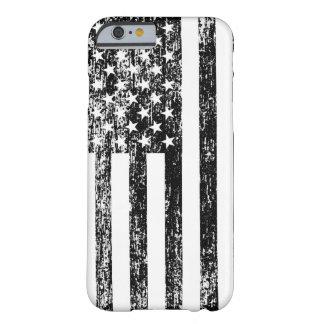 Caja blanco y negro del iPhone 6 de la bandera Funda De iPhone 6 Barely There