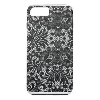 caja blanco y negro del iphone del cordón funda iPhone 7 plus