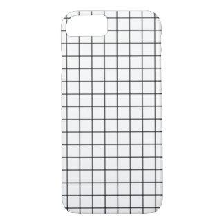 Caja blanco y negro del teléfono de la rejilla funda iPhone 7