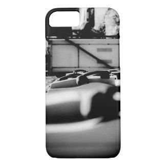 Caja blanco y negro del teléfono público funda iPhone 7