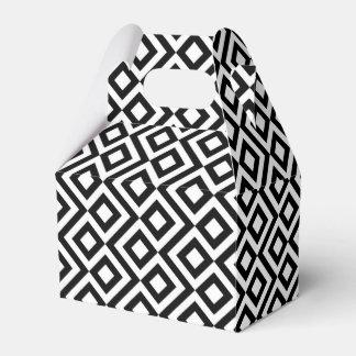 Caja blanco y negro geométrica del favor del
