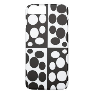 caja blanco y negro mínima del iphone funda iPhone 7 plus