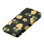 caja bonita del iphone 4 de los rosas amarillos - funda para iPhone 4
