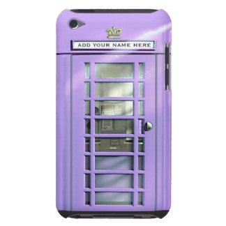 Caja británica del teléfono de la lila divertida p iPod touch protector
