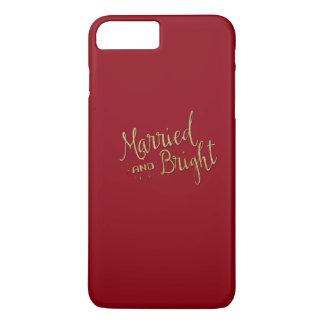 """Caja """"casada y brillante"""" del iPhone del navidad Funda iPhone 7 Plus"""