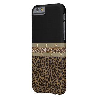 Caja ceñida de IPhone 6 del leopardo Funda Barely There iPhone 6