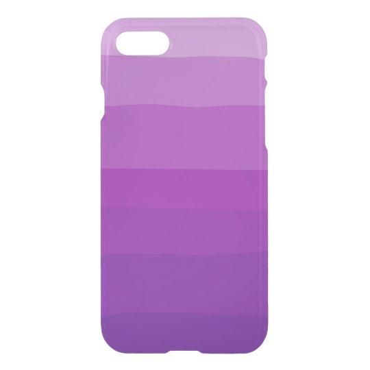 Caja clara púrpura del iPhone de Ombre Funda Para iPhone 7