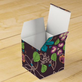 Caja clásica floral terrestre de encargo del favor