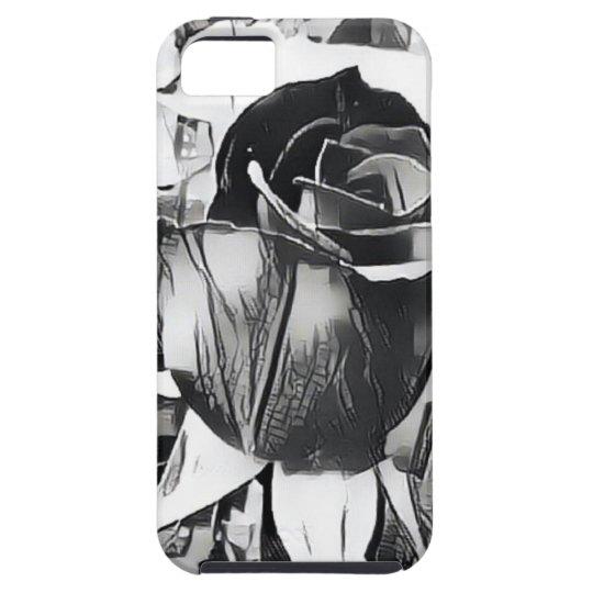 Caja color de rosa blanco y negro del teléfono del funda para iPhone SE/5/5s