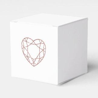 Caja color de rosa elegante del favor del boda del