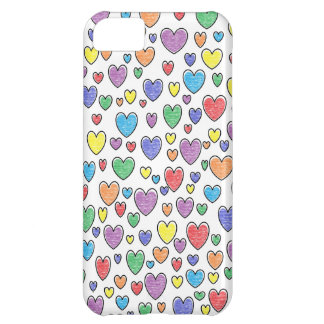 Caja coloreada del iPhone de los corazones Funda iPhone 5C