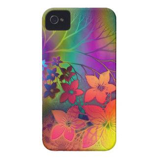 Caja colorida del diseño de las flores para iPhone 4 cobertura