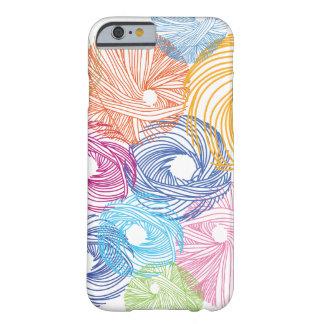 Caja colorida del ejemplo del arte funda para iPhone 6 barely there