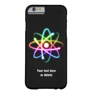 Caja colorida del iPhone 6 del símbolo del átomo Funda De iPhone 6 Barely There