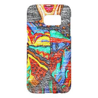 Caja colorida del teléfono de la galaxia S7 de 90s Funda Samsung Galaxy S7