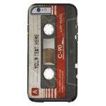 Caja compacta retra rasguñada del casete audio funda de iPhone 6 tough