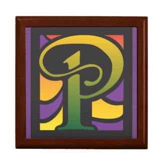 Caja De Regalo Caja con la letra P