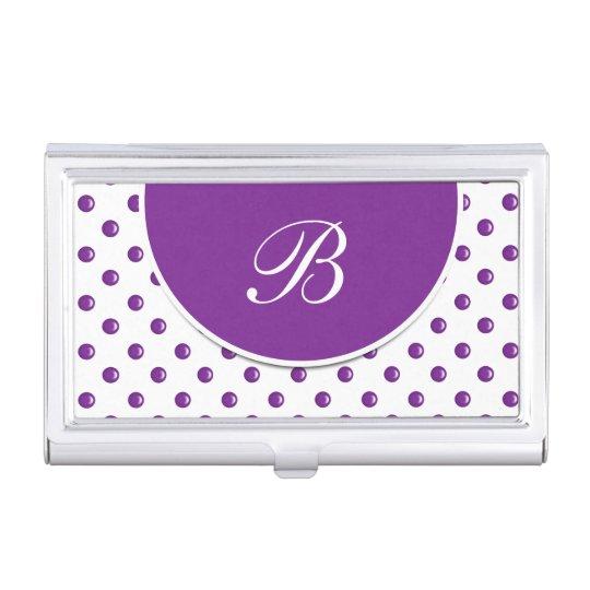 Caja con monograma de la tarjeta de visita cajas de tarjetas de presentación