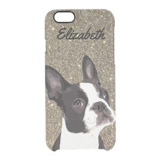 Caja conocida del teléfono de Boston Terrier de la Funda Transparente Para iPhone 6/6s