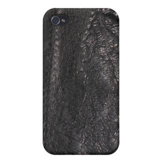 Caja cosida de la mota del iPhone de la textura de iPhone 4 Carcasa