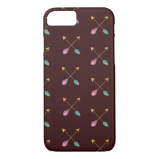Caja cruzada de las flechas funda iPhone 7