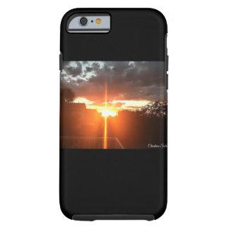 Caja cruzada del teléfono de la puesta del sol funda resistente iPhone 6