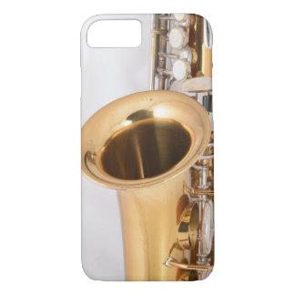 Caja curvada vintage del teléfono del saxofón del funda iPhone 7