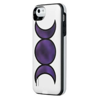 Caja de batería púrpura del iPhone de la diosa Funda Con Batería Para iPhone SE/5/5s