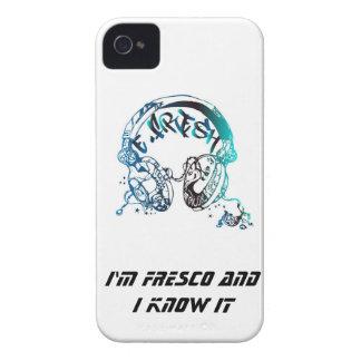 Caja de Blackberry con el azul E-Fresco del logoti iPhone 4 Case-Mate Carcasa