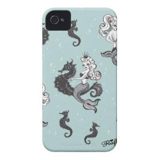 Caja de Blackberry de la sirena de Pearla por la iPhone 4 Fundas