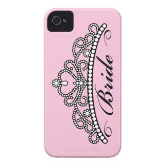 Caja de Blackberry de la tiara de la novia (fondo iPhone 4 Fundas