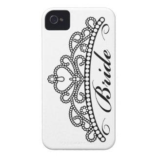 Caja de Blackberry de la tiara de la novia iPhone 4 Cárcasa