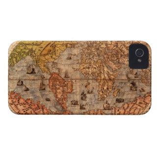 Caja de Blackberry del pergamino del mapa de Viejo iPhone 4 Case-Mate Cárcasa