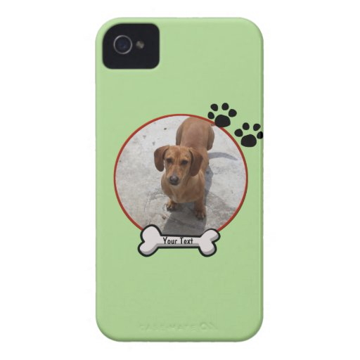 Caja de Blackberry del perro casero Case-Mate iPhone 4 Fundas