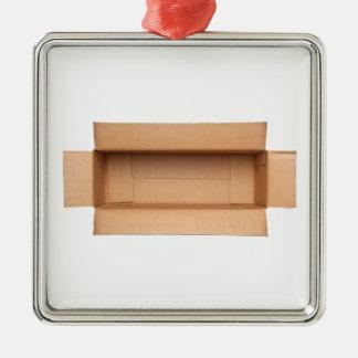 Caja de cartón retangular abierta adorno de cerámica