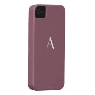 Caja de color topo de color de malva del monograma carcasa para iPhone 4 de Case-Mate