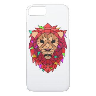 Caja de cristal del teléfono del león funda iPhone 7