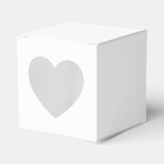 Caja de encargo del favor 2x2 con el corazón